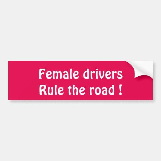 Pegatina para el parachoques de sexo femenino pegatina para coche