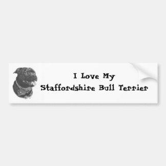 Pegatina para el parachoques de Staffordshire bull Pegatina Para Coche