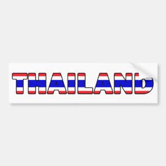 Pegatina para el parachoques de Tailandia