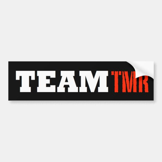 Pegatina para el parachoques de TeamTMR