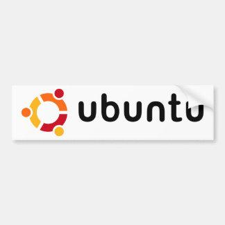 Pegatina para el parachoques de Ubuntu Pegatina Para Coche