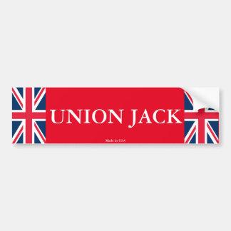 Pegatina para el parachoques de Union Jack
