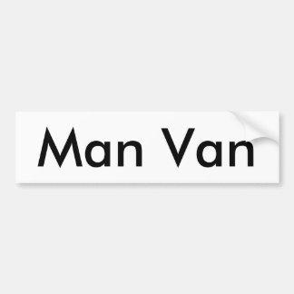 Pegatina para el parachoques de Van del hombre