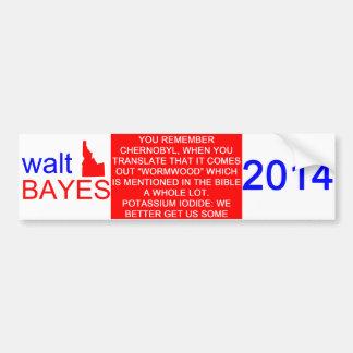 Pegatina para el parachoques de Walt Bayes