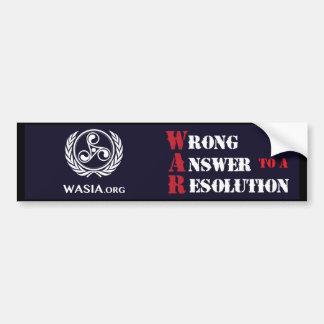 Pegatina para el parachoques de WASIA (negro)