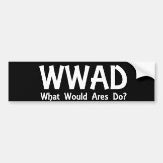 Pegatina para el parachoques de WWAD