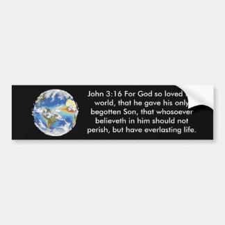 Pegatina para el parachoques del 3:16 de Juan Pegatina Para Coche