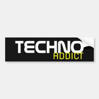 Pegatina para el parachoques del adicto a Techno