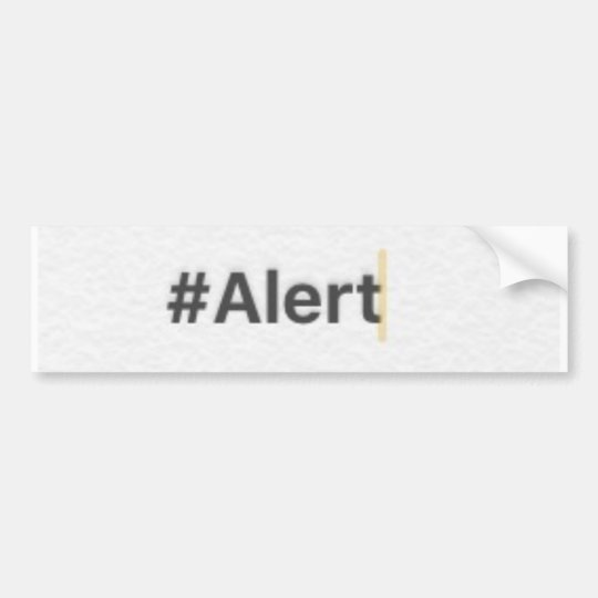Pegatina para el parachoques del #Alert Pegatina Para Coche