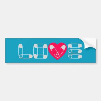 Pegatina para el parachoques del amor