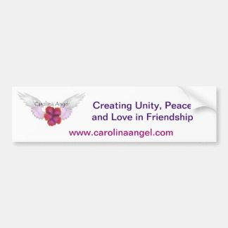 Pegatina para el parachoques del ángel de Carolina Etiqueta De Parachoque