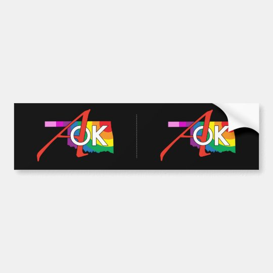 ¡Pegatina para el parachoques del arco iris AOK! Pegatina Para Coche