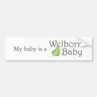 Pegatina para el parachoques del bebé de Welborn Pegatina Para Coche