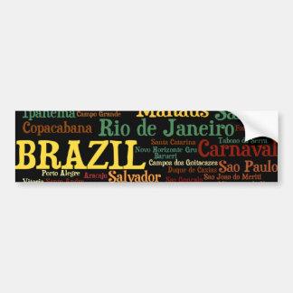 Pegatina para el parachoques del BRASIL