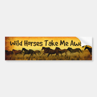Pegatina para el parachoques del caballo salvaje