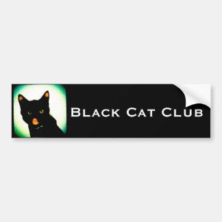 Pegatina para el parachoques del club del gato neg pegatina para coche