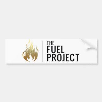 Pegatina para el parachoques del combustible (oro)