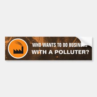 Pegatina para el parachoques del contaminador del pegatina para coche