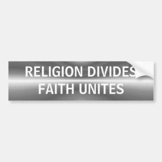 Pegatina para el parachoques del ~ de la religión/ pegatina para coche