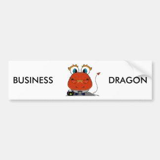Pegatina para el parachoques del dragón del