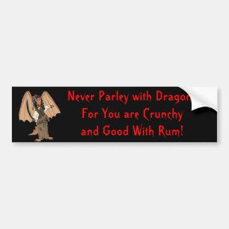 Pegatina para el parachoques del dragón del pirata etiqueta de parachoque
