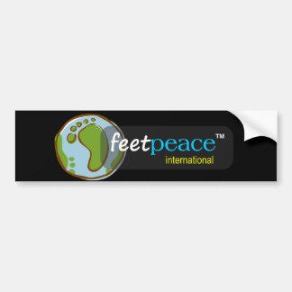 pegatina para el parachoques del feetpeace™