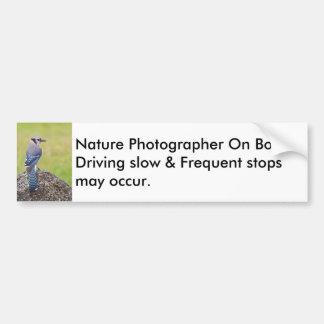 Pegatina para el parachoques del fotógrafo de la pegatina para coche