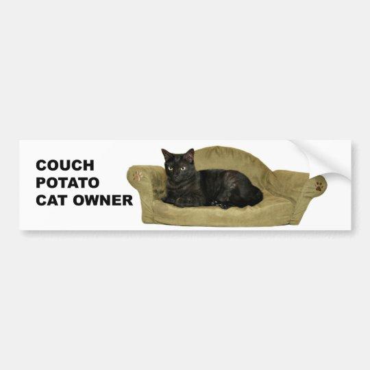 Pegatina para el parachoques del gato del
