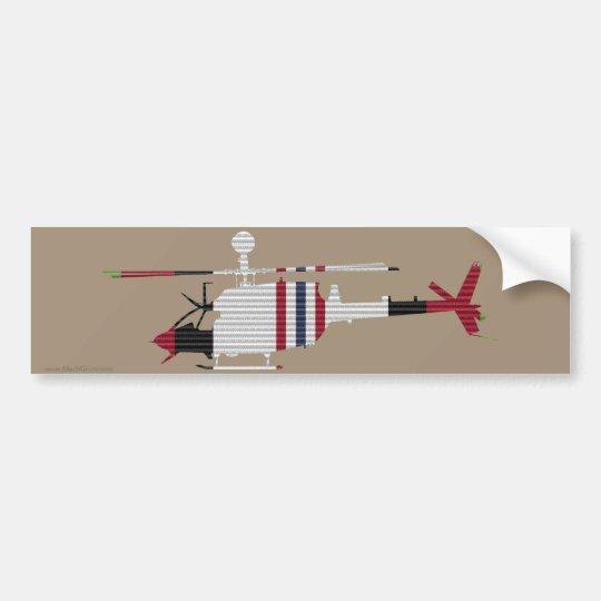 Pegatina para el parachoques del guerrero de la pegatina para coche