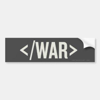 Pegatina para el parachoques del HTML de la etique Pegatina Para Coche