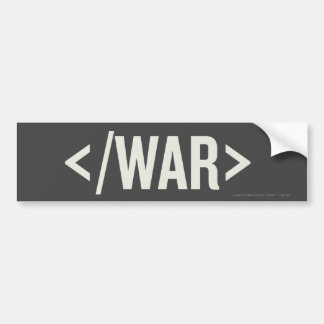 Pegatina para el parachoques del HTML de la etique Etiqueta De Parachoque