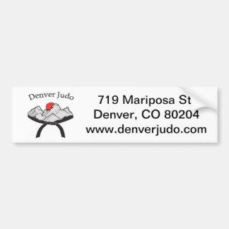 Pegatina para el parachoques del judo de Denver Pegatina De Parachoque