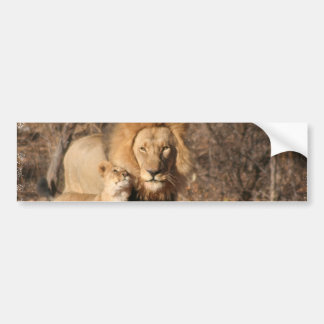 Pegatina para el parachoques del león y de Cub de  Pegatina Para Coche