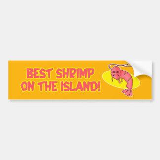 """Pegatina para el parachoques del """"mejor camarón"""""""