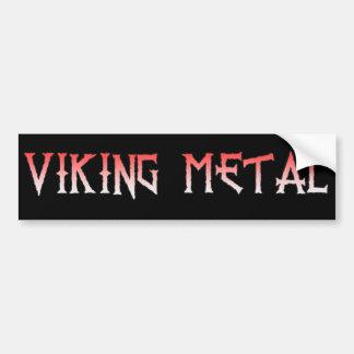 Pegatina para el parachoques del metal de Viking
