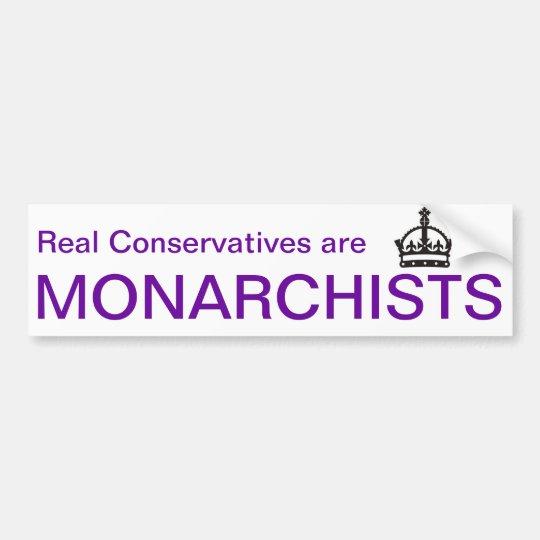 Pegatina para el parachoques del monárquico