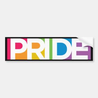 Pegatina para el parachoques del orgullo gay