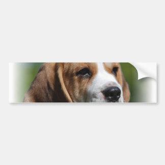 Pegatina para el parachoques del perrito del beagl pegatina de parachoque
