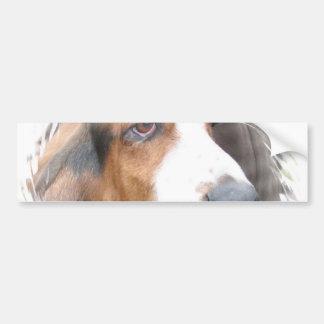 Pegatina para el parachoques del perro de Basset H Pegatina Para Coche