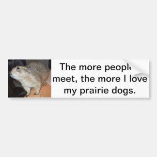 Pegatina para el parachoques del perro de las prad pegatina para coche