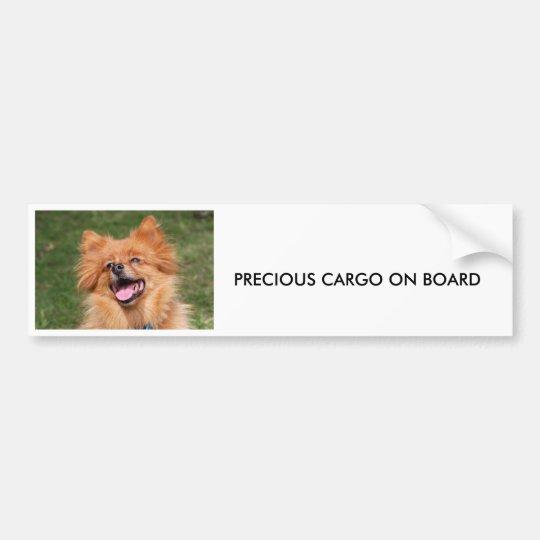Pegatina para el parachoques del perro de pegatina para coche