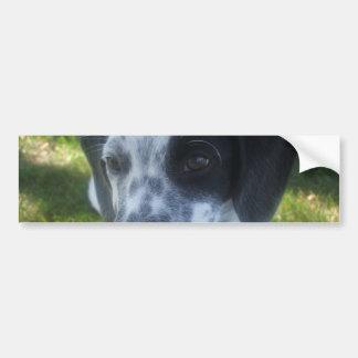 Pegatina para el parachoques del perro del indicad pegatina de parachoque