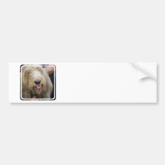 Pegatina para el parachoques del perro del Otterho Pegatina De Parachoque