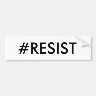 Pegatina para el parachoques del #RESIST