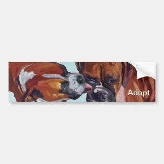 Pegatina para el parachoques del retrato del perro