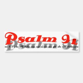 pegatina para el parachoques del salmo 91 (lengua  pegatina para coche
