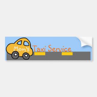 Pegatina para el parachoques del servicio del taxi etiqueta de parachoque