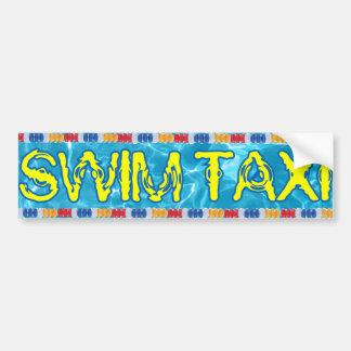 Pegatina para el parachoques del taxi de la nadada