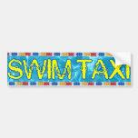 Pegatina para el parachoques del taxi de la nadada pegatina de parachoque