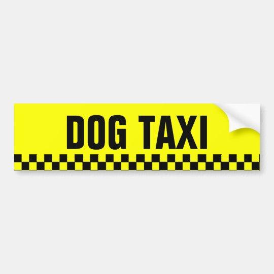Pegatina para el parachoques del taxi del perro